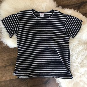 Tops - Vintage Black and White Striped Tee